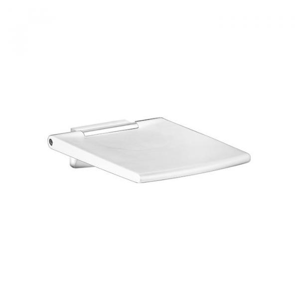 Keuco Plan Care Fold Up Shower Seat - White-Chrome