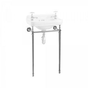 Burlington Edwardian Chrome Washstand for Cloakroom Basin