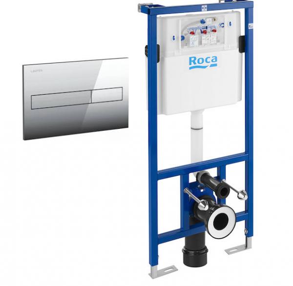 Laufen Roca WC Frame, Cistern & Flush Plate Set