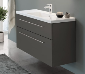 Dansani Luna 60cm Gloss Grey Unit with Kantate Basin