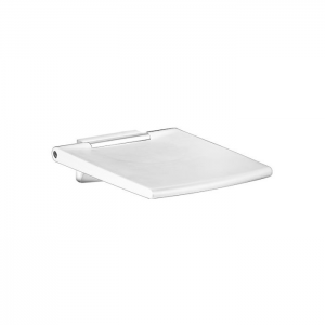Keuco Plan Care Fold Up Shower Seat - White-Chrome