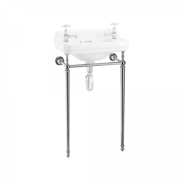 Burlington Edwardian Chrome Washstand for Cloakroom Basin