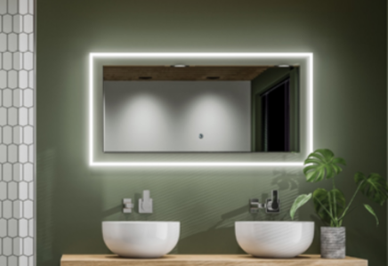 HiB Element 120cm LED Mirror