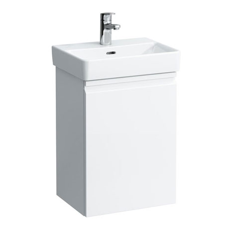 Laufen Pro Basin with Base Cloakroom Unit - White