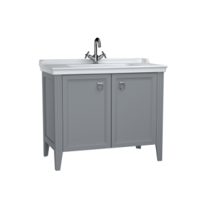 Vitra Valerte 80cm Basin & Unit - Grey