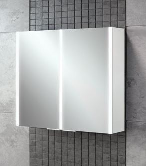 HiB Xenon 80 LED Mirrored Cabinet